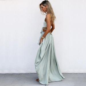 Sabo Skirt Ivy Braid Tie Top Maxi Skirt Set SMALL